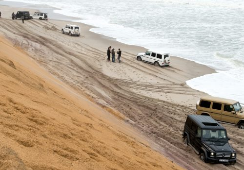 Namibia Skeleton Coast explorer Mike Horn Mercedes-Benz G-Wagens