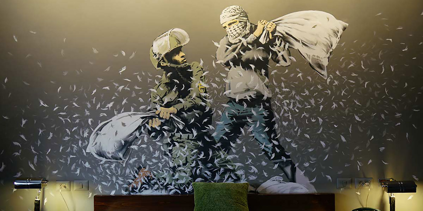 Banksy, Walled Off Hotel, Palestine