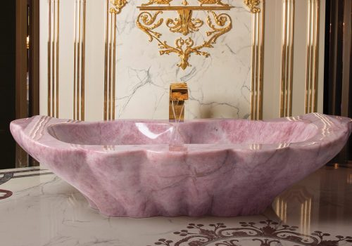Baldi Bathtub rose quartz