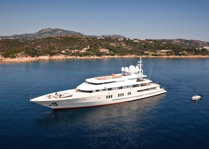 This 73-Metre Masterpiece Yacht by Lürssen Could (temporarily) be Yours