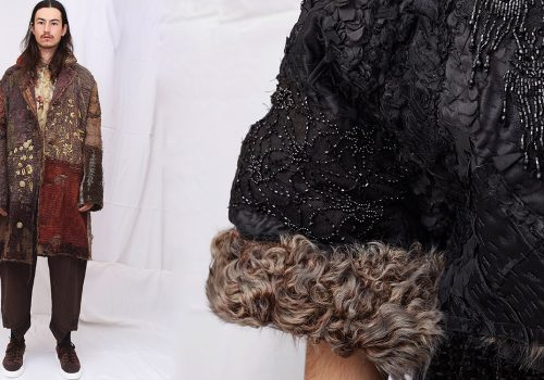 antique fabrics by walid london based designer fashion