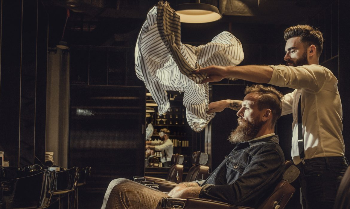 Barbershop chaps & co Dubai men