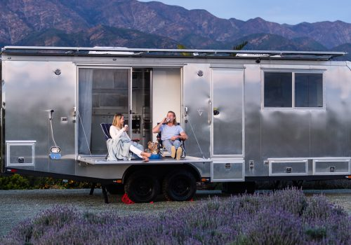 luxury Airstream vehicle